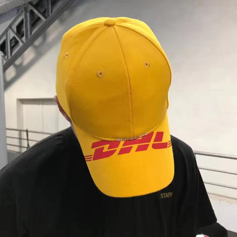 2ef8ac308bd Veterments DHL Baseball Cap Men Women Visor Hat Cap Street Travel ...