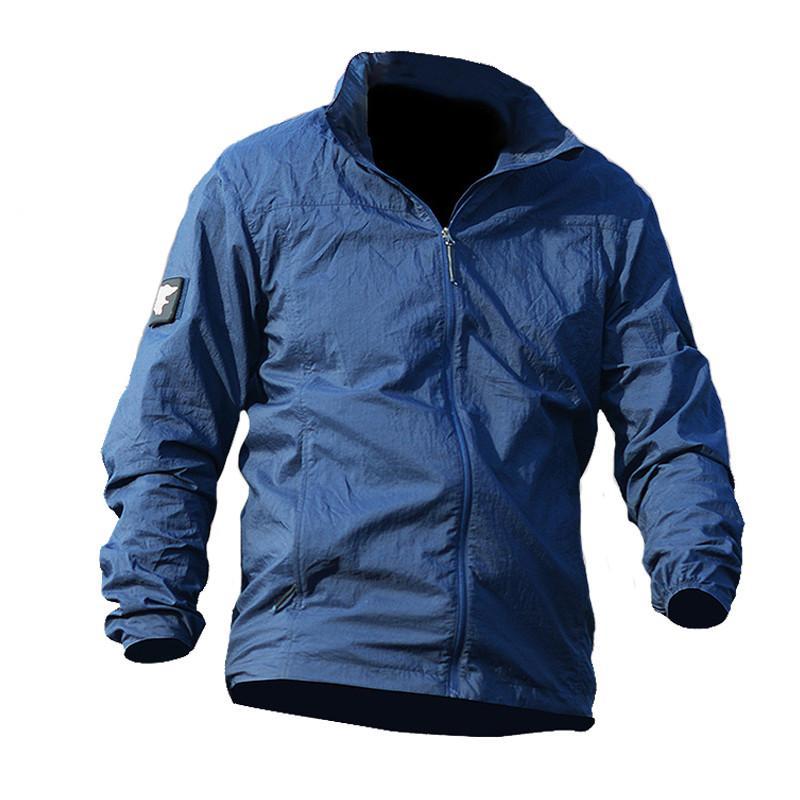 606f26e14 Army Skin Jackets Tactical Lightweight Waterproof Jacket Men Summer  Breathable Thin Hoody Raincoat Portable Windbreaker Open Jackets Jackets  Coats Mens From ...