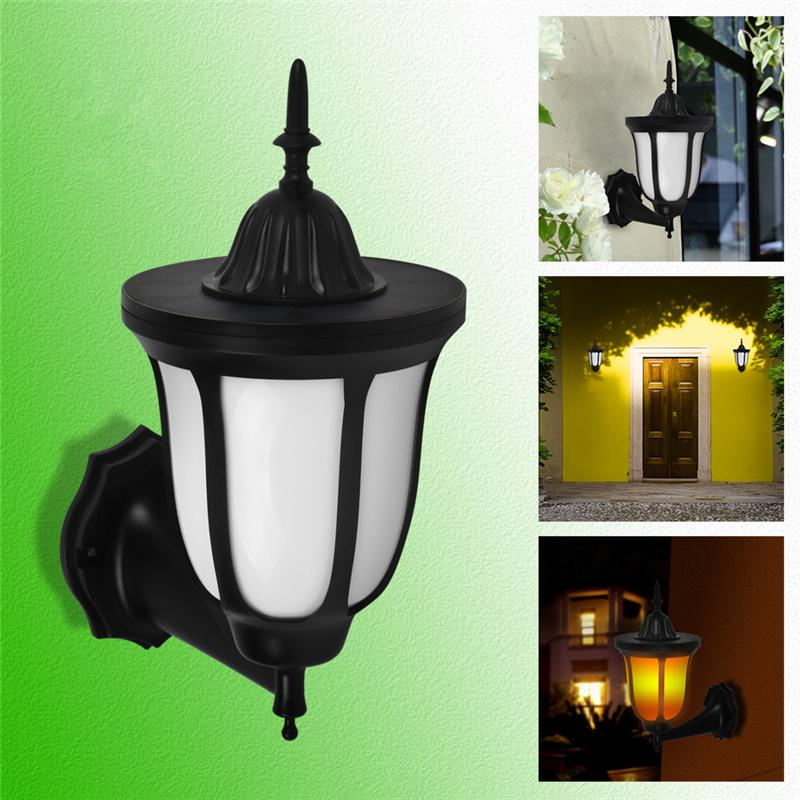 Best Quality Solar Lights Solar Torches Flickering Flames Wall Lamp ...