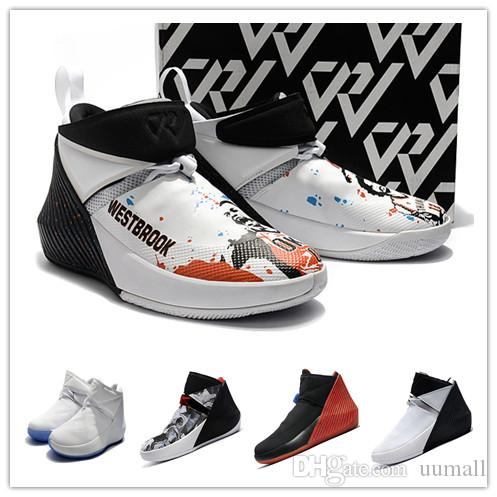 newest 53b45 f0405 2019 Russell Westbrook BEST Why Not Zer0.1 Zapatillas De Baloncesto Para  Hombre 1s Zero One Negro Rojo Blanco Gris All Star Gray Zapatillas  Deportivas ...