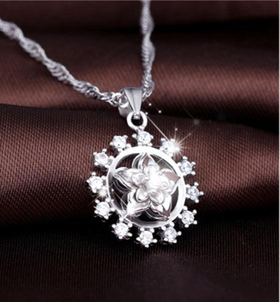 Lucky gardenia gemstone Hot S drill jewelry Top grade crystal Necklace & Pendant Fashion Dazzling gem pendant necklace new arrival