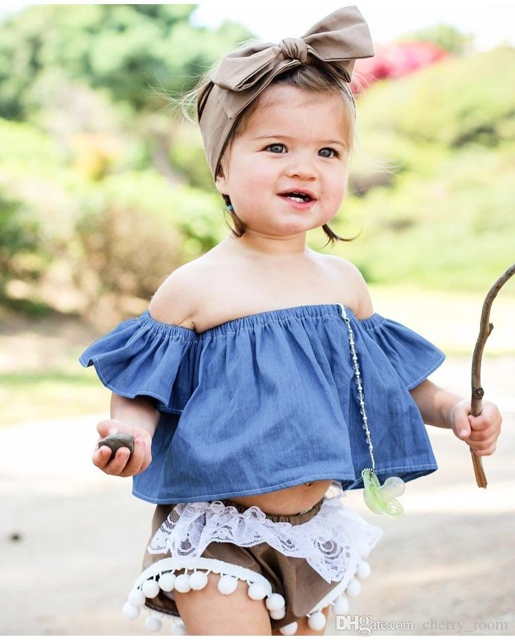 6365f5fcceb INS Baby Girls Tee Shirt 2018 New Summer Princess Infant Tops Cute  Strapless Toddler T-shirt Kids Blouse Children Boutique Clothing C2881 Baby Girls  Tee ...