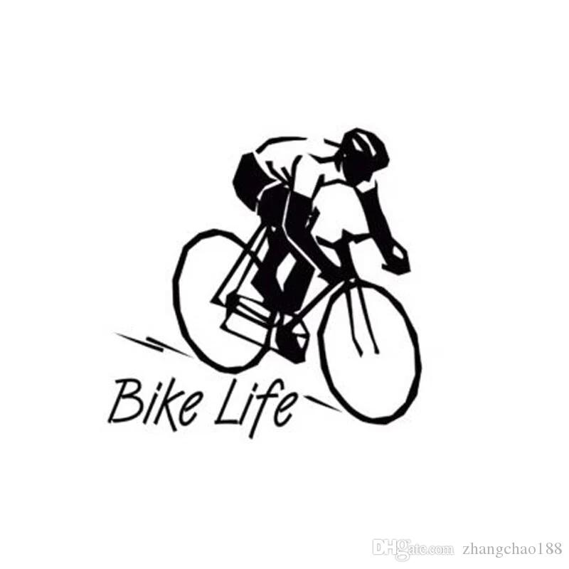 2019 8 8 8 9cm Bike Life Healthy Style Car Decal Sticker Black