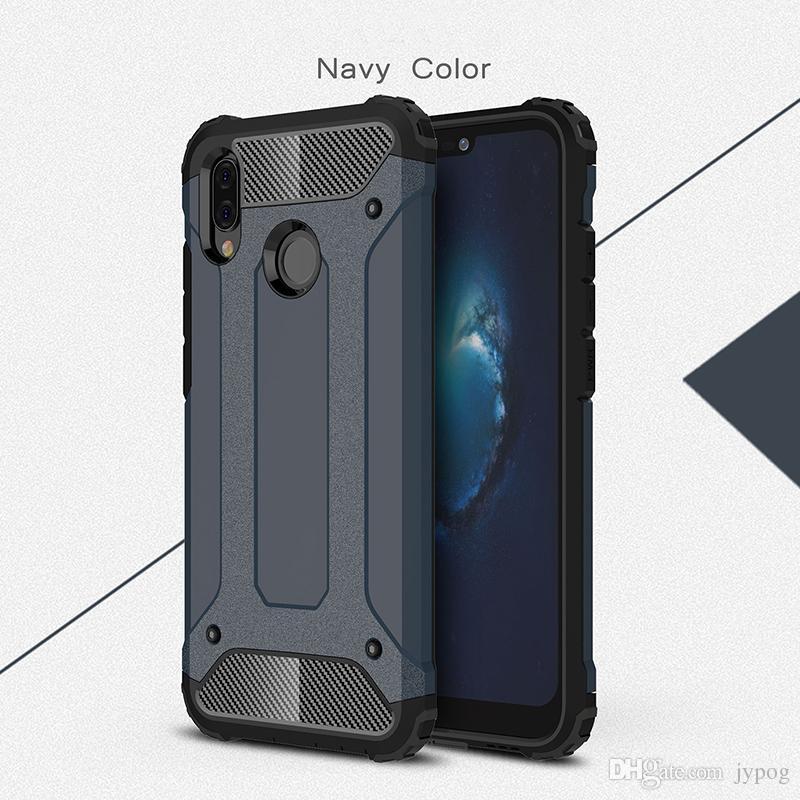 Para Huawei P20 2 en 1 Funda Defender Funda antideslizante para teléfono resistente a los impactos de alto impacto para Huawei P20