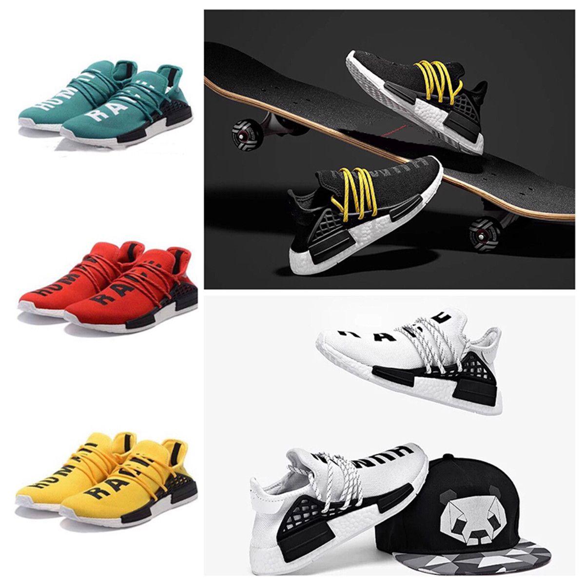 5fdb1fe0d Compre Venta Caliente 2018 Pharrell Williams X Human Race Mujeres Hombres  Zapatos Corrientes Zapatos Deportivos Atlético Zapatillas De Deporte Al  Aire Libre ...