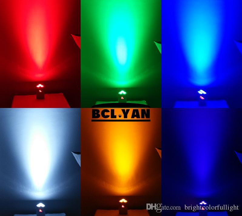 12 XLOT com road case frete grátis RGBWAUV 6 em 1 bateria cunha luz Par DMX sem fio para bar DJ casamento infravermelho Led Par