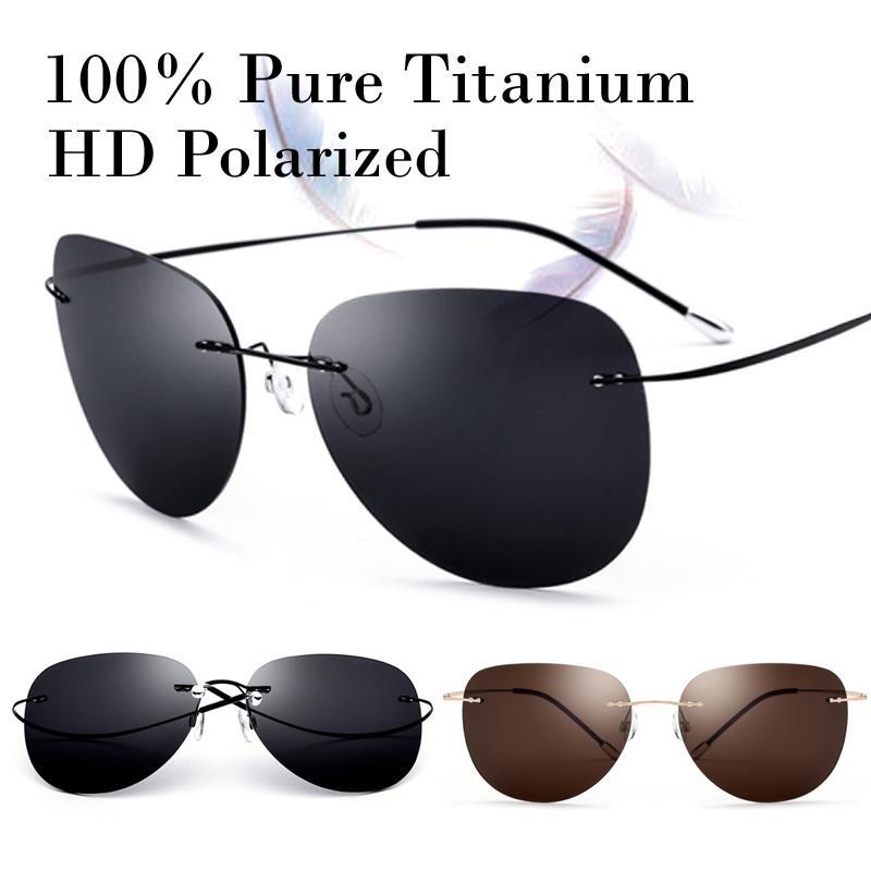 4598dff9eee06 Compre X907 100% Real Titanium Ultraleve Sem Parafuso Polarizada Sem Aro  Óculos De Sol Das Mulheres Dos Homens Moda Sol Glasse Sombra Oculos Gafas  De Sol ...