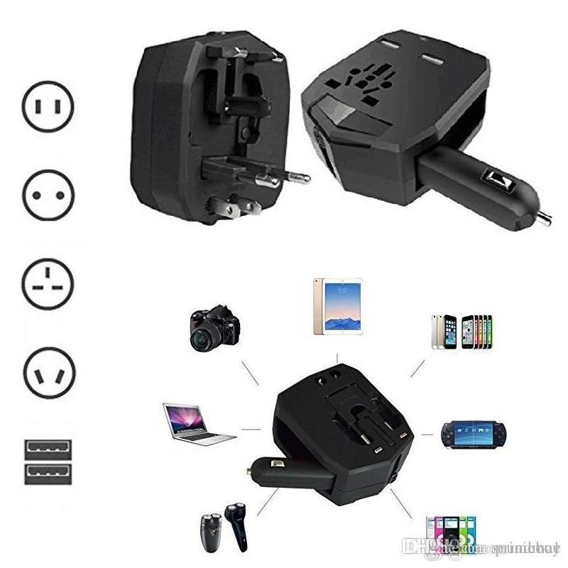 Universal Car Charger Armor Travel Adapter Multifunction Car Charger 5V  2 5A Power Adaptor Converter With Retail Package