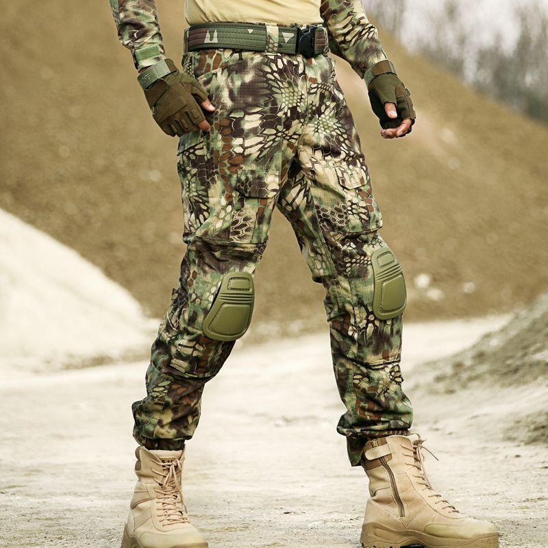 2018 Nuevos Hombres Pantalones Militares Con Rodilleras Pantalones Cargo Más Tamaño Ejército Soldado Pantalones Hombres Tácticos