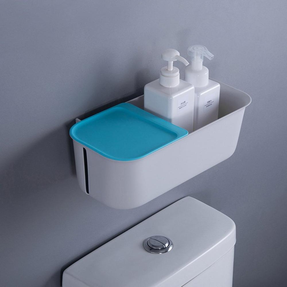 2018 Dry And Wet Separation Bathroom Toilet Shelf Tissue Box Wall ...