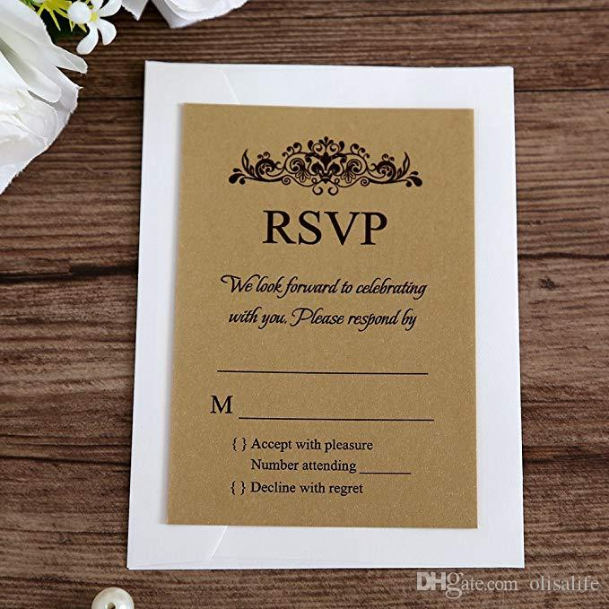Ivory Rsvp Cards With White Envelopes For Wedding Invitations Ivory