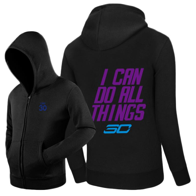 release date: 0561b 935dc Stephen Curry I CAN DO ALL THINGS logo Warriors Zip-up hoodie sweatshirt  cotton Jacket