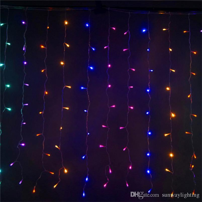 33meter 300 led curtain led christmas wedding party star light decor outdoor xmas fairy string lights home ligting warm white led string lights c9 led