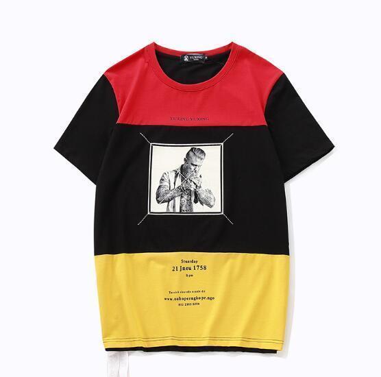 Grosshandel T Shirts Hand Malerei Street Hip Hop Original Die Nacht