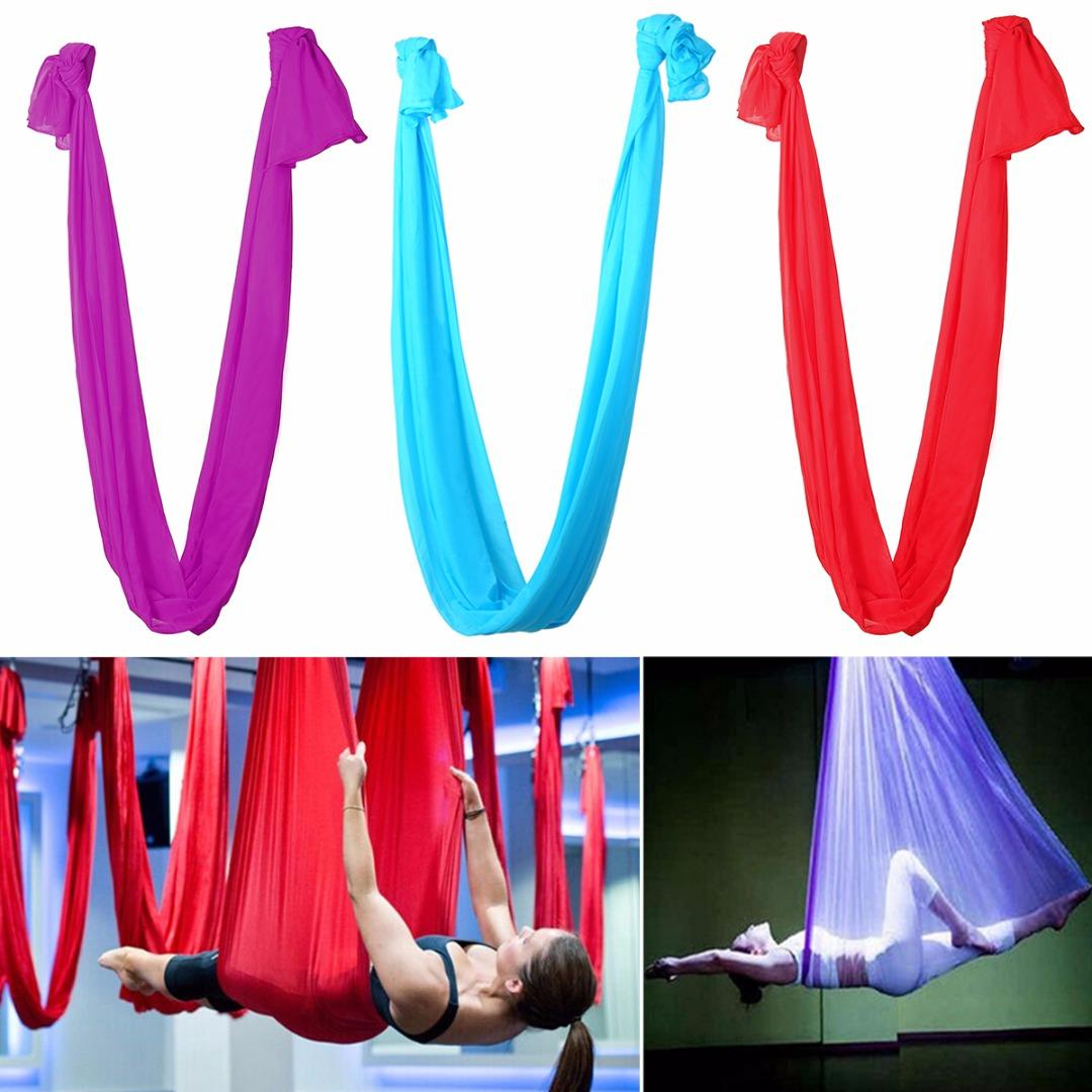 Sports & Entertainment Fitness & Body Building Anti-gravity Elastic Yoga Aerial Inversion Swing Hammock Sling Strap Prop Multifunction Yoga Belts For Yoga Training Equipment High Quality And Inexpensive