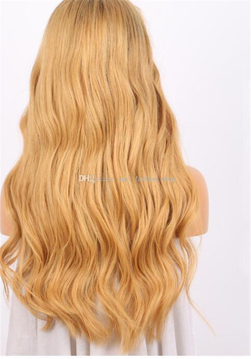 Ombre Brown Wig 1B 27 Glueless Full Lace Human Hair Wigs For Black Women Brazilian Body Wave Lace Front Wig With Baby Hair