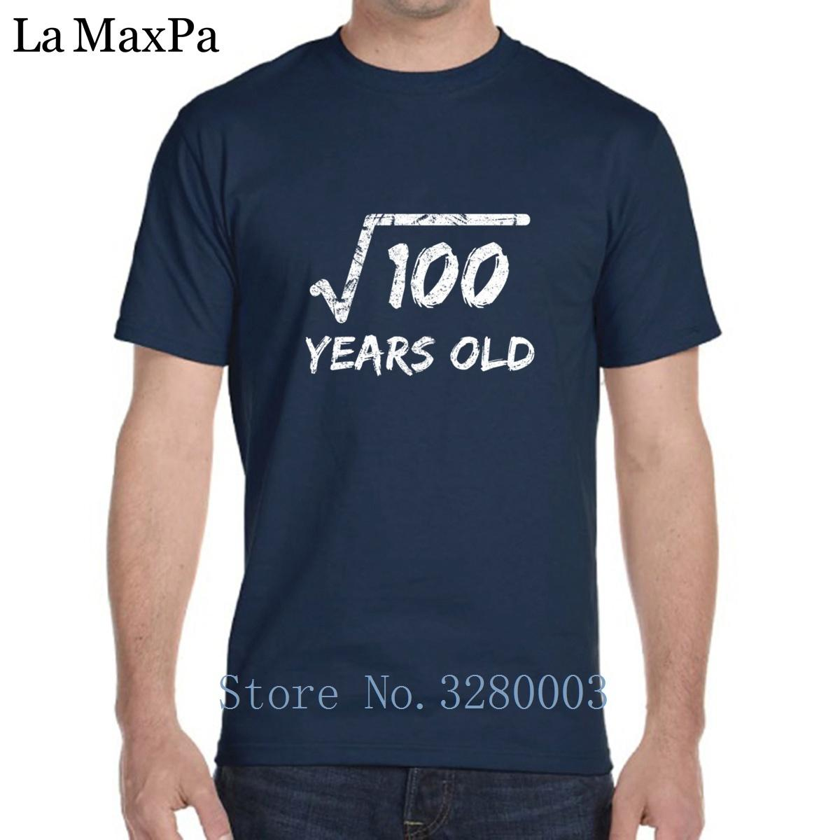 Designs New Style T Shirt For Men Square Root Of 100 10 Years Old 10th Birthday Summer Mens Tee Novelty O Neck Online Buy Joke
