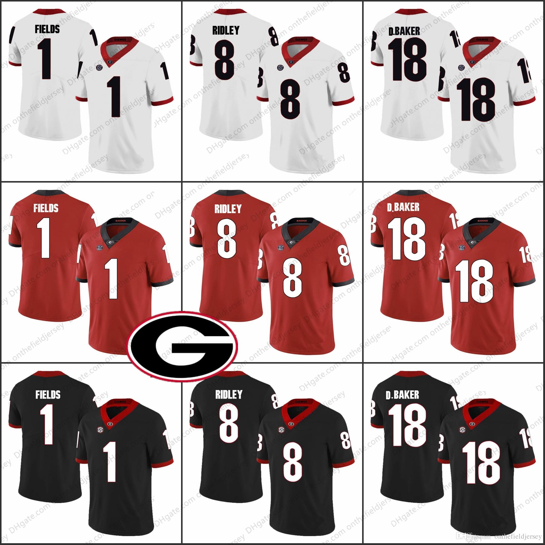 21c2bc2cad4 ... red limited stitched ncaa jersey a97a5 3e039; release date georgia  bulldogs 1 justin fields 1 sony michel 18 d.baker 3 roquan