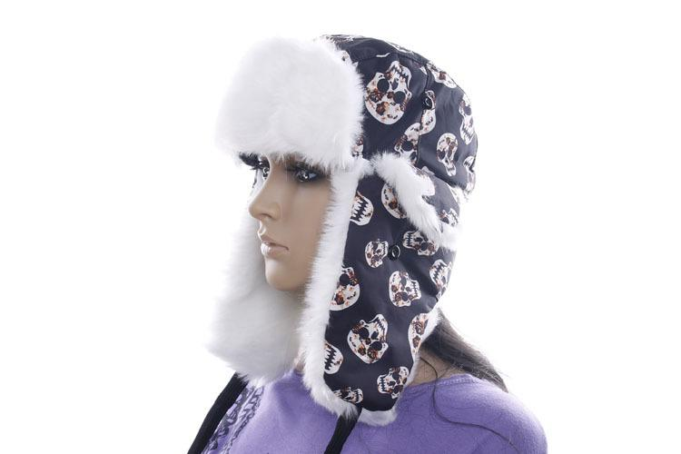 9b5c56c7 Lady Winter Warm Bomber Hats Female Personalized Skull Ear Protector ...