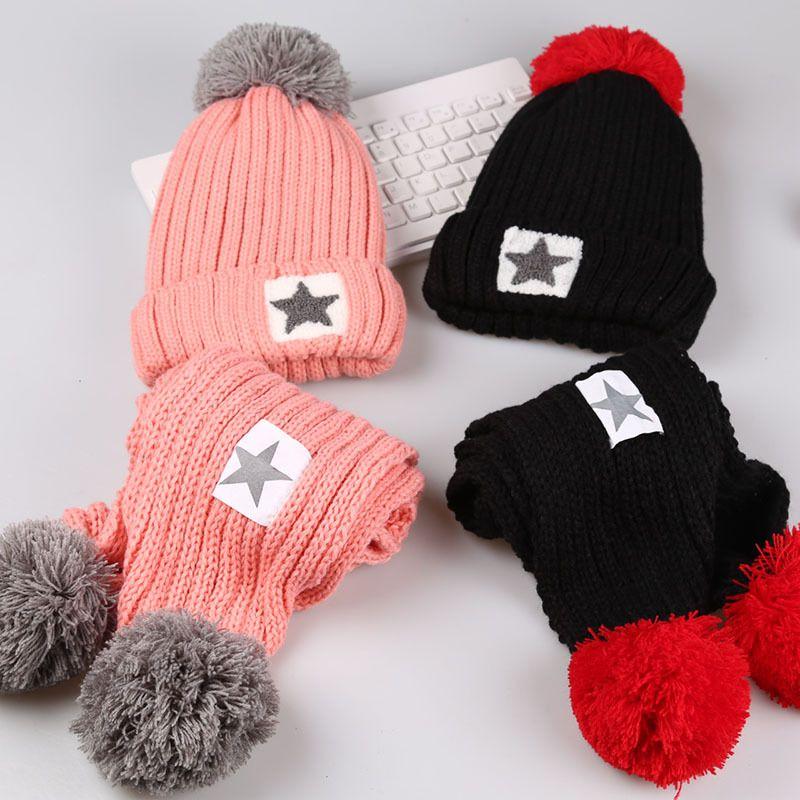 189fb550150 1 -13t Baby Boys Girls Warm Fur Fleece Star Winter Hat Kids Children ...