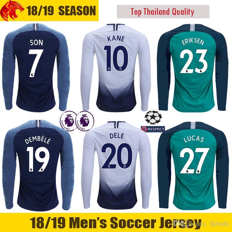 Compre 18 19 Tottenham Manga Longa Camisa De Futebol LUCAS TRIPPIER 2018  2019 Tottenham Hotspur LAMELA DIER Kane Manga Longa Camisa De Futebol SON  Tottenham ... 2785d4dc6a23a