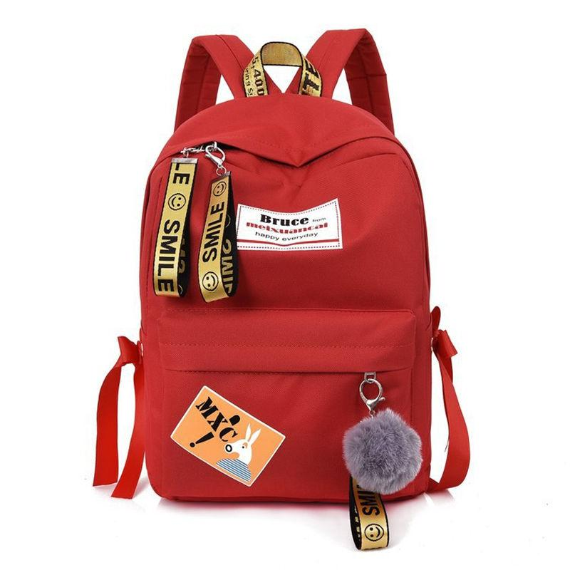 2018 New Badge Backpack Female Student School Bags Korean Version of  Leisure Bag The Small Fresh Fashion College Wind Back Packs 5e7fd3cf8e8f7