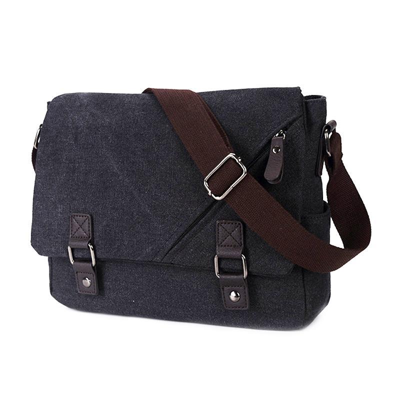 2963a9dda4cd ASDS Canvas Messenger Shoulder Bag Laptop Computer Bag Satchel Bookbag  School Working for Men