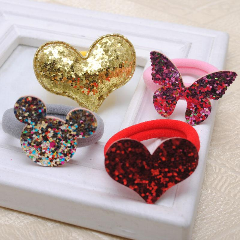 2 Piece Hair Accessories For Girls Elastic Hair Gum Girls Gift Hair Ring For kids Rubber Band