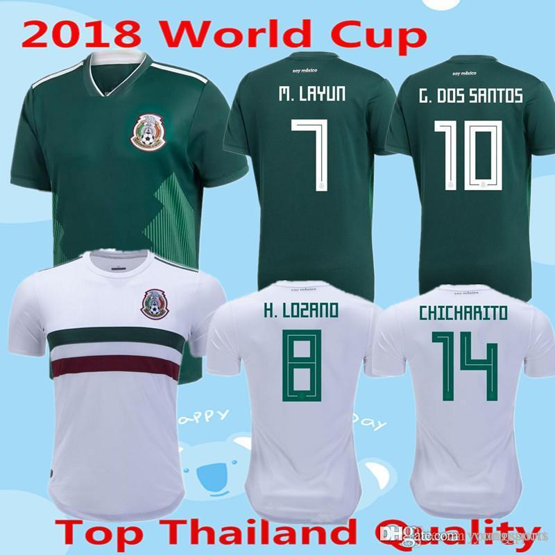 ebfdc14b0 ... coupon code for 2018 mexico soccer jerseys 2018 world cup chicharito  lozano dos santos herrera layun