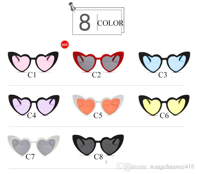 Peekaboo love heart Luxury sunglasses women cat eye vintage Christmas gift black pink red heart shape sunglasses uv 400