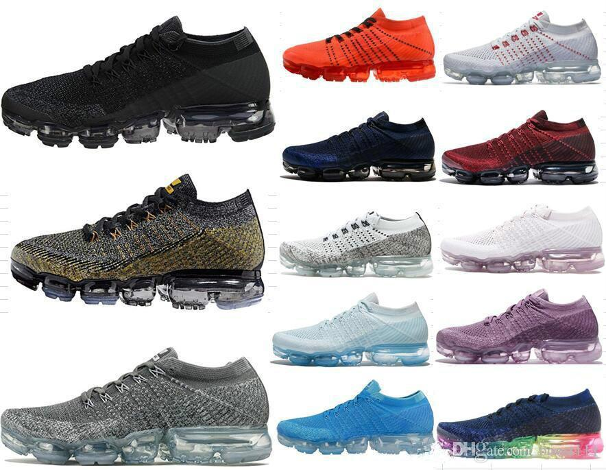 Newest design Men VaporMax 2018 Casual Shoes Fashion Casual women Casual shoes Big yards of Large Air cushion shoe849557 849558-002 004 clearance largest supplier 46em8f4