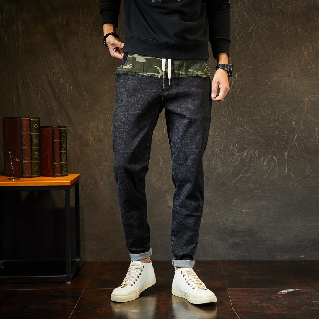 d2fb8dce1448 Großhandel Mode Herren Schwarze Jeans Pluderhosen Elastische Taille 44 46  48 Größe M 7XL Von Candice98,  60.71 Auf De.Dhgate.Com   Dhgate