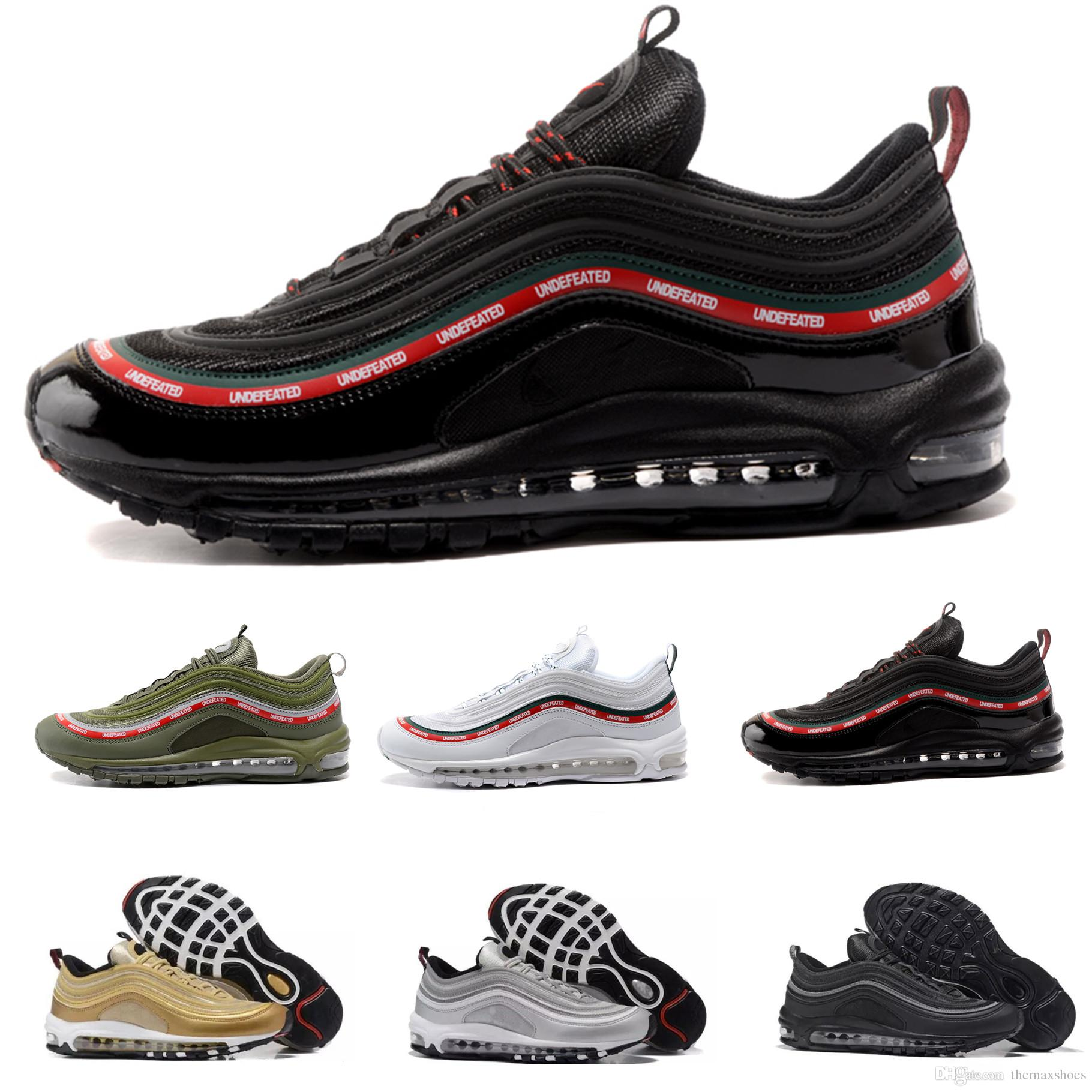 sale real sale websites New 97 OG Undefeated white Undefeated black womens Running Shoes Metallic gold Lightweight Athletic Sports Training Sneakers designer cost sale online 2015 new online sale free shipping QHNQWia