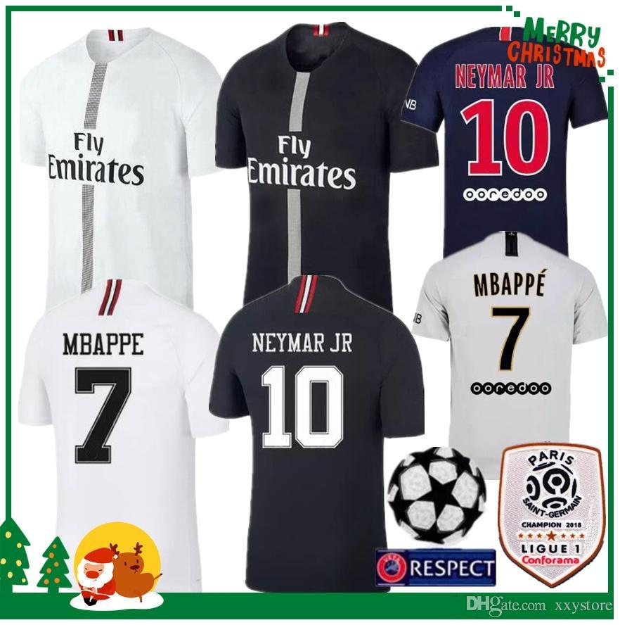 e94c00920 2019 18 19 PSG MBAPPE Neymar Jr Home Shirt T SILVA CAVANI DI MARIA PASTORE  2018 2019 Paris Verratti Buffon Seasons Custom Champions League Jersey From  ...