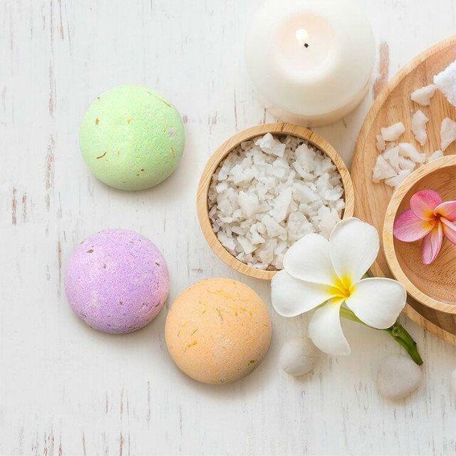 2018 Natural Bubble Bath Bomb Ball 40g Random Color Essential Oil Handmade SPA Bath Salts Ball top quality free DHL