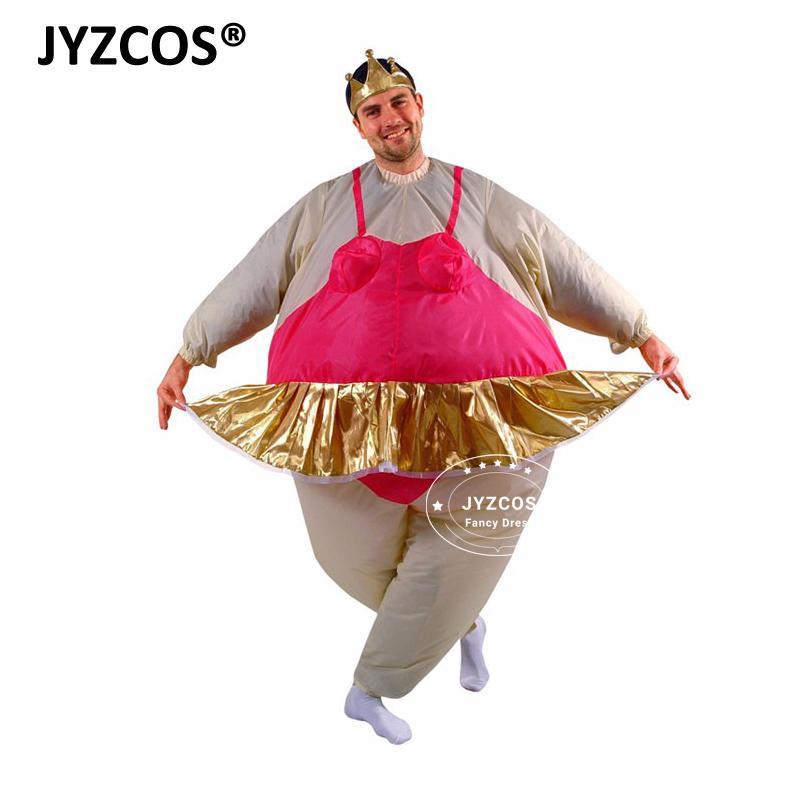 Compre Artesanía JYZCOS Bailarina Para Hombre Mujer Tiara Corona Divertido  Traje Inflable Adultos Airblown Divertido Inflable Traje Gordo Trajes A   63.36 ... 50cf369a25c