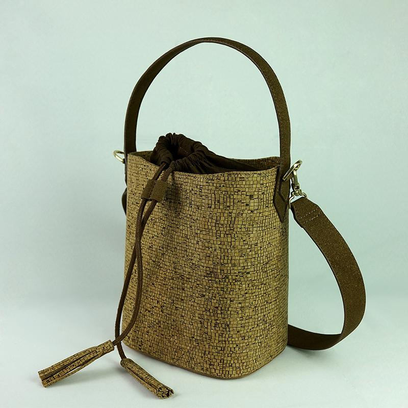 Cork Handbags: KAOGE Natural Cork Bag Female Handmade Luxury Handbags