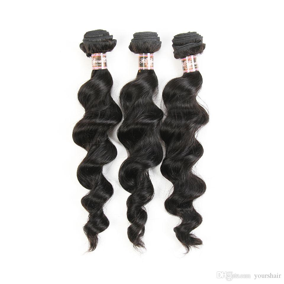 Cheap Brazilian Peruvian Malaysian Indian Human Hair Weave Unprocessed Remy Hair Weave With Closure