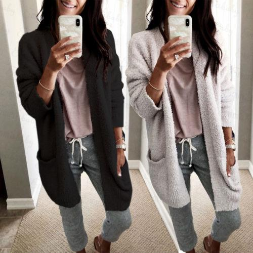 28682ca19dc4 2019 Women Winter Baggy Open Stitch Cardigan Coat Trench Long Chunky  Knitted Oversized Sweater Jumper From Cashmere52