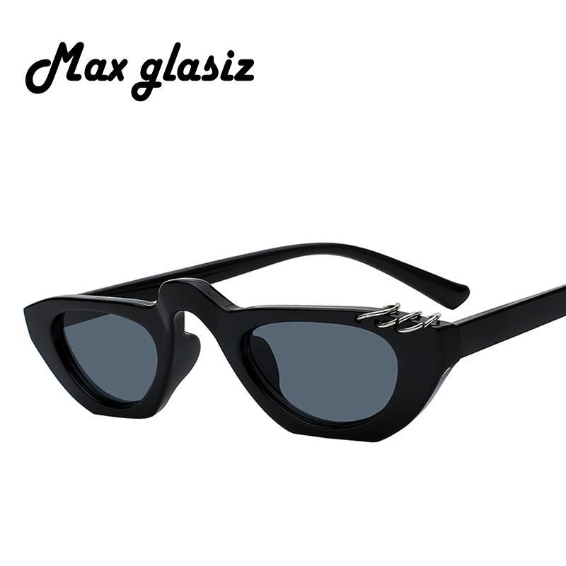 0c062aafda Compre 2018 Max Nuevas Gafas De Sol Pequeñas Cateye Vintage Negro Leopardo  Azul Oval Elegante Cateye Gafas De Sol Mujer 2018 Regalo Oculos A $37.28  Del ...