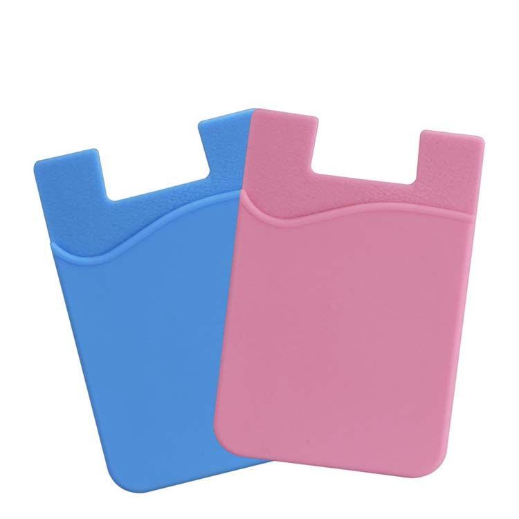 Silikon Wallet Kreditkarte Cash Pocket Aufkleber 3M Adhesive Stick-on ID Kreditkarteninhaber Tasche für iPhone Samsung Handy Opp Paket