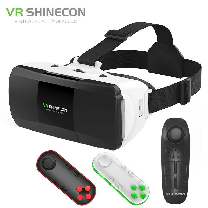 c5895a6c879e Original VR Shinecon Pro Virtual Reality 3D Googles Glasses VR Google  Cardboard Headset Box Glasses Virtual For 4 6.0 Inch Phone Diy 3d Glasses  Homemade 3d ...