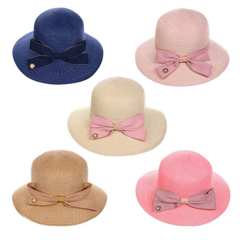 3f6d57289fd96e Fashionable Bow Summer Straw Sun Hat Women Wide Brimmed Panama Foldable Hat  Beach Casual Sun Hats Caps For Female Girls Winter Hats Hats For Men From  ...