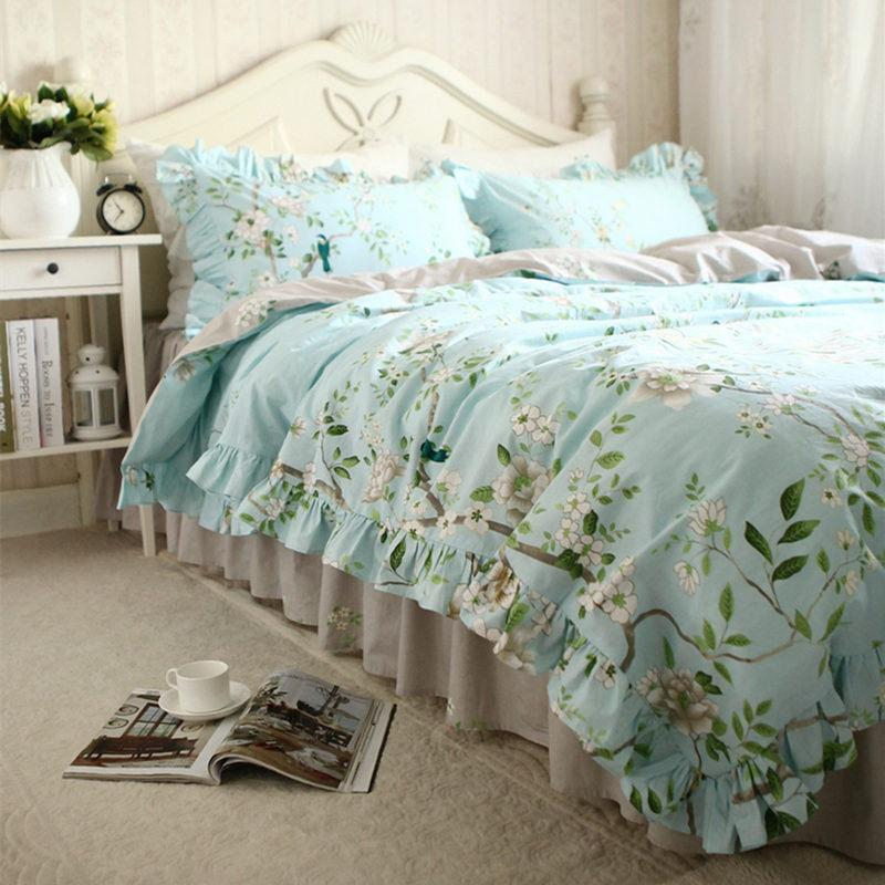 bird pin chic cover set cottage duvet bedding shabby country motif