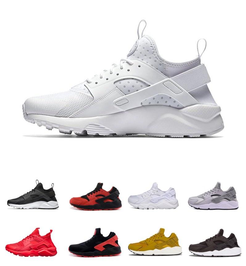 release date 26e1d 51331 Acheter Respirant Et Confortable Huarache Ultra Run Chaussures Triple Blanc  Noir Hommes Femmes Chaussures De Course Huaraches Athlétique Sport  Chaussures ...