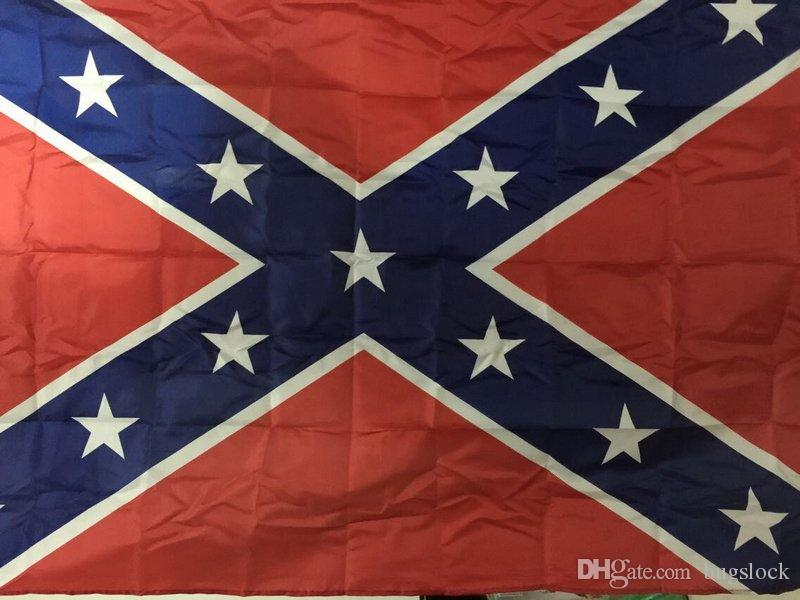 90*150cm flags Two Sides Printed Flag Confederate Rebel Civil War Flags National Polyester Flag 5 X 3FT H11b