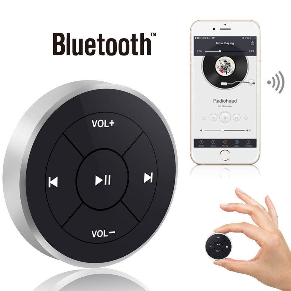 Car Wireless Bluetooth Media Remote Control Button Mounting Clip For  IOS/Android ar Steering Wheel Bike Handbar