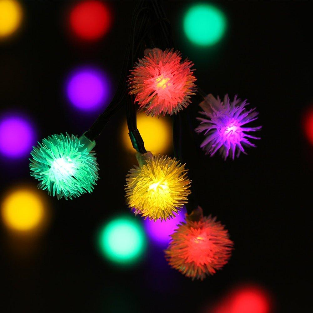 2018 solar cotton ball light 50 led string lights chuzzle fairy lamp for bedroom party decoration wedding led garland christmas light from lightlight