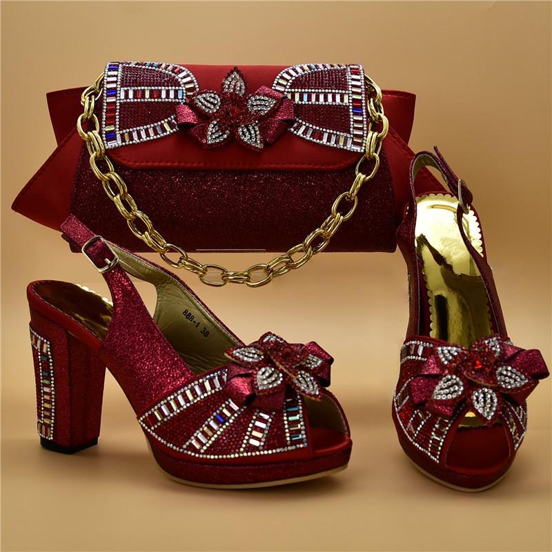 d4f55d0e0 Compre Zapatos Y Bolsos A Juego Africanos De Diseño Más Reciente Zapatillas  Y Bolsos Italianos Para Mujeres En Nigeria Zapatos Y Bolsos De Fiesta Para  ...