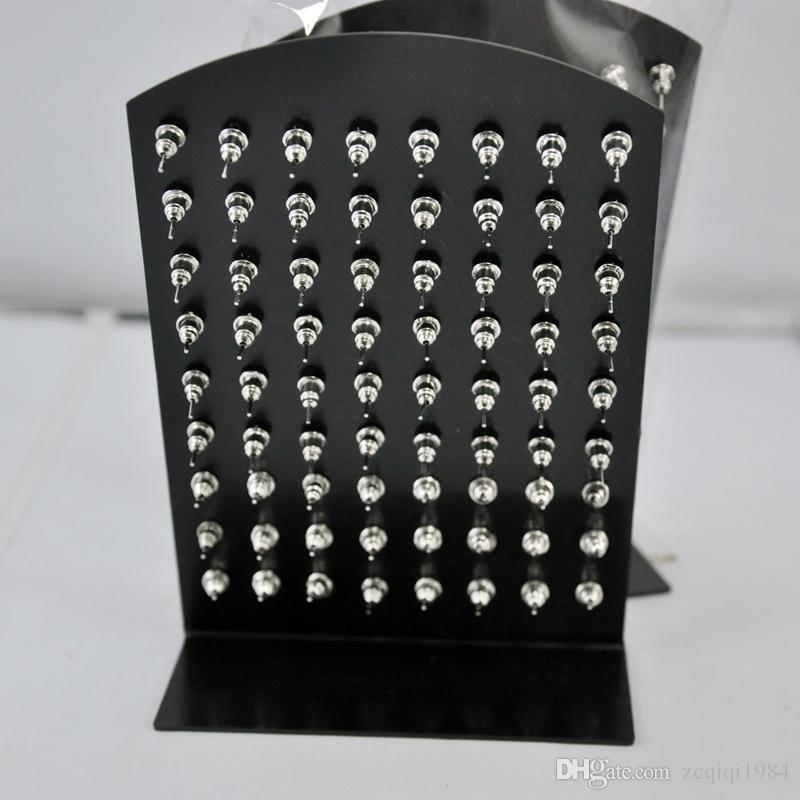 Commercio all'ingrosso 72 pz gioielli Bulk sacco dell'acciaio inossidabile di modo multicolore strass Orecchini le donne gli uomini